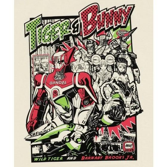 TIGER&BUNNY アメコミ風集合柄Tシャツ