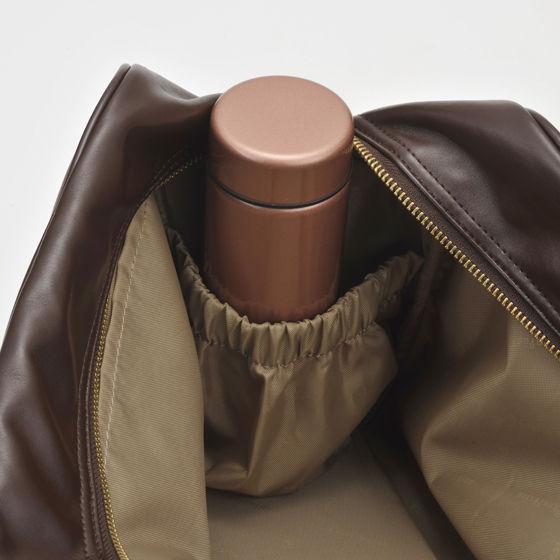 合皮スクールバッグ チョコレートブラウン