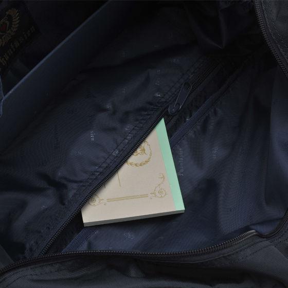 ベーシックスクールバッグ ミッドナイトネイビー(ピンク刺繍)