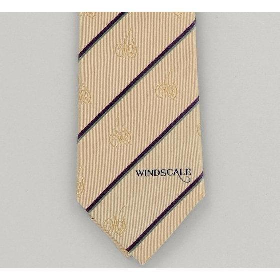 ウインドスケール(WIND SCALE)WSストライプ柄ネクタイ  2013spring ライトブルー、ベージュ
