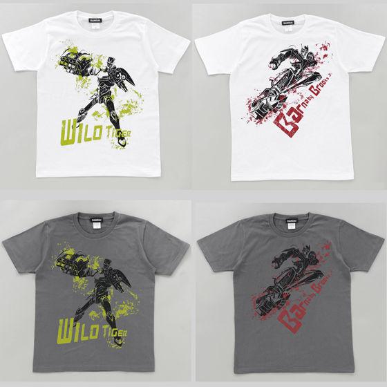 TIGER & BUNNY Tシャツ ヒーローシルエット柄