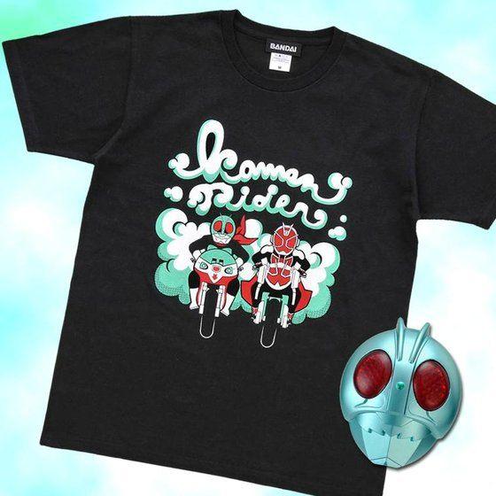 仮面ライダー1号ウィザードリング付き!仮面ライダー1号&仮面ライダーウィザード デフォルメバイク柄Tシャツ