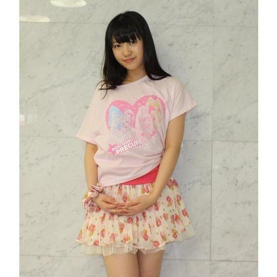 ドキドキ!プリキュア ハート柄ドルマンTシャツ ピンク