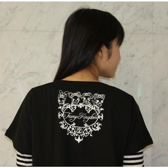 ドキドキ!プリキュア ロゴ柄 ドルマンTシャツ 黒