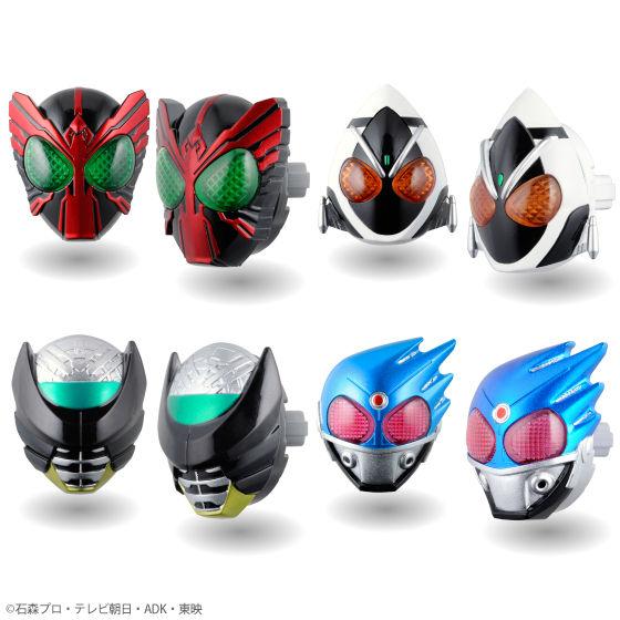 「仮面ライダーオーズ/OOO」「仮面ライダーフォーゼ」からはこの4種