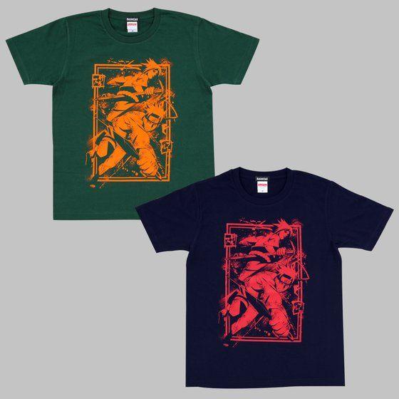 NARUTO-ナルト-疾風伝 Tシャツ ナルト&サスケ和風柄