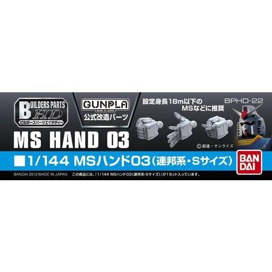 ビルダーズパーツHD1/144MSハンド03(連邦系・Sサイズ)