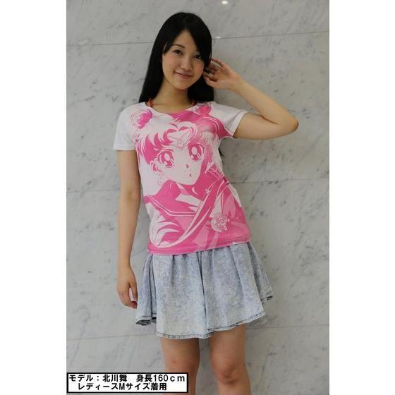 美少女戦士セーラームーン フルプリントTシャツ face柄 ホワイト