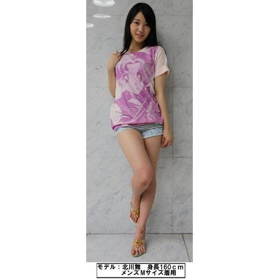 美少女戦士セーラームーン フルプリントTシャツ face柄 シャーベットピンク