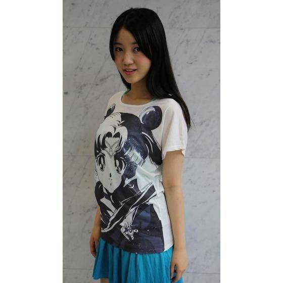 美少女戦士セーラームーン フルプリント ドルマンTシャツ face柄 ホワイト