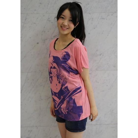 美少女戦士セーラームーン フルプリント ドルマンTシャツ face柄 ピンク