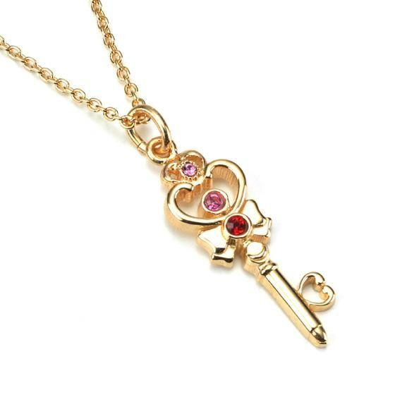 美少女戦士セーラームーン セーラープルート 時空の鍵 デザインsilver925ペンダント K18ゴールドコーティング