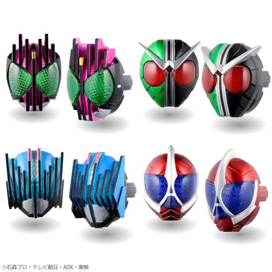 「仮面ライダーディケイド」「仮面ライダーW(ダブル)」からはこの4種