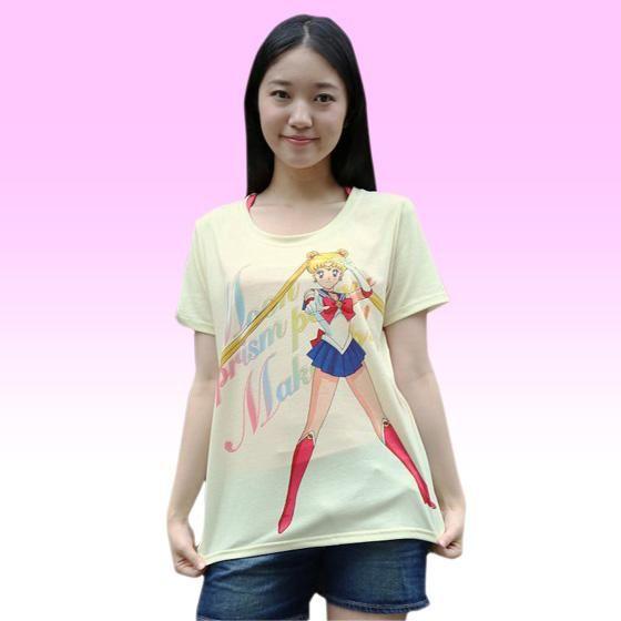 美少女戦士セーラームーン Full color print Tシャツ セーラームーン(パステルイエロー)