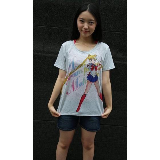 美少女戦士セーラームーン Full color print Tシャツ セーラームーン(杢グレー)