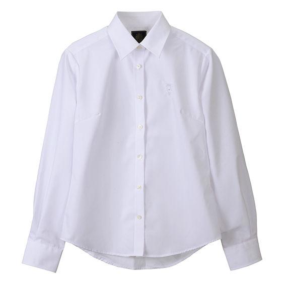 ブロードシャツベーシック ホワイト(サックス)