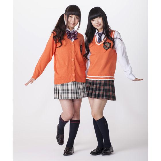 【ネット通販限定カラー】ベーシックカーディガンエンブレム オレンジ