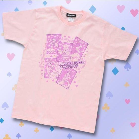ドキドキ!プリキュア CARD柄 子供用Tシャツ ピンク