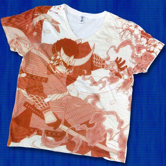 仮面ライダー鎧武 TEAM GAIM(チーム鎧武) 武将Tシャツ オレンジ
