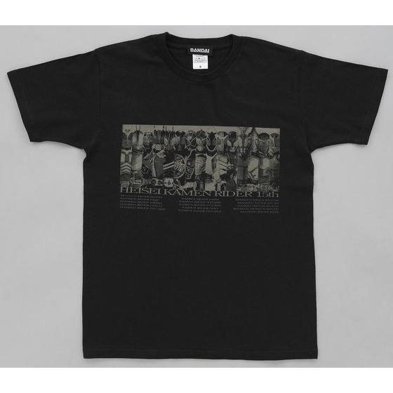 仮面ライダー鎧武&平成仮面ライダーTシャツ line-up柄