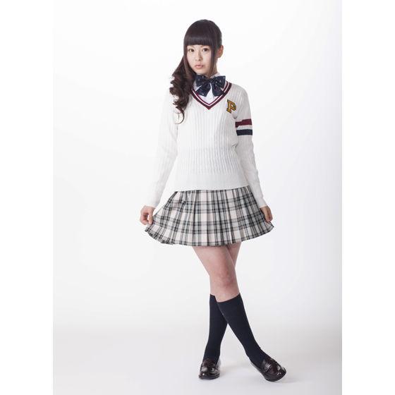 ケーブルラインセーター  ホワイト