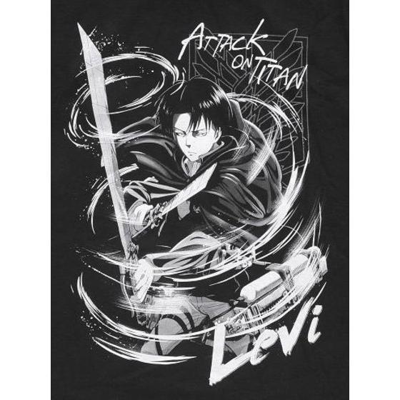 進撃の巨人 Tシャツ リヴァイ     「Attack on Titan」