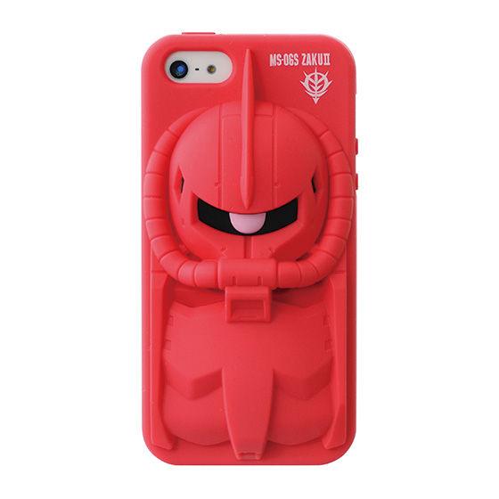 iPhone5&5s対応シリコンジャケット 機動戦士ガンダム シャアザク