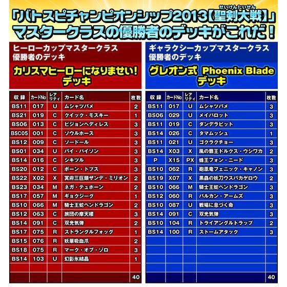 バトスピプレミアムシリーズ『バトルスピリッツ チャンピオンシップ2013メモリアルデッキセット』