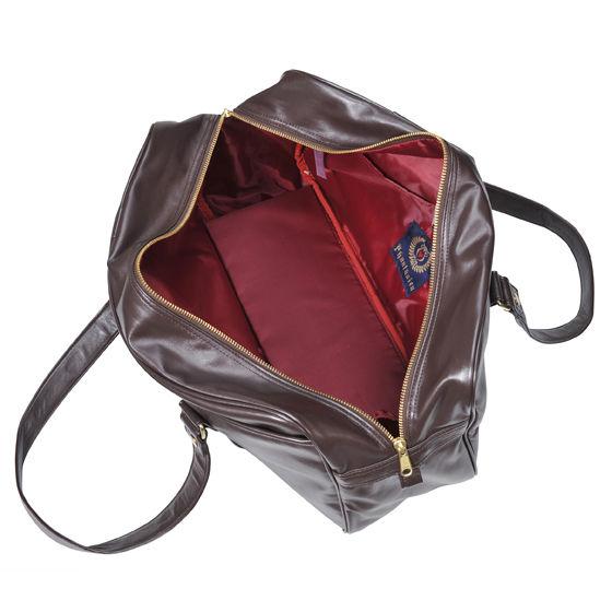 合皮スクールバッグ  チョコレートブラウン(レッド)