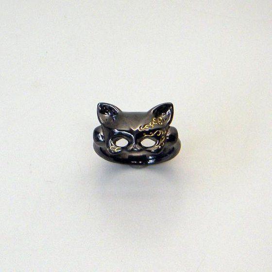【受注生産】仮面ライダーフォーゼ 友子のSilver Cat mask リング(ネコの仮面リング)