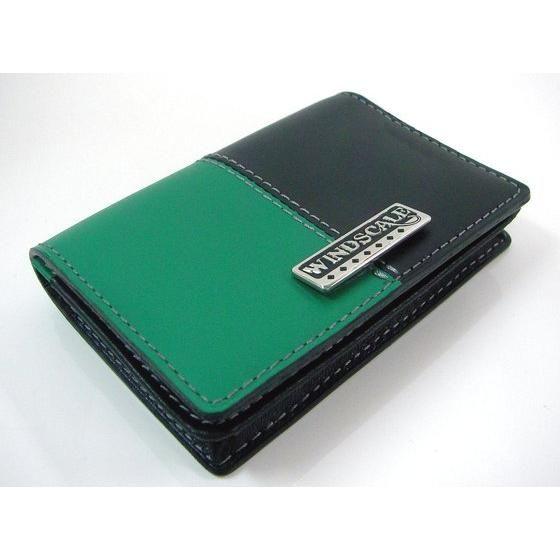 【受注生産】仮面ライダーW WIND SCALE 本革カードケース ブラック×グリーン