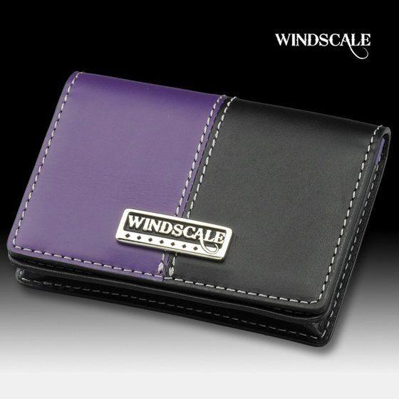 【受注生産】仮面ライダーW  WIND SCALE 本革カードケース ブラック×パープル