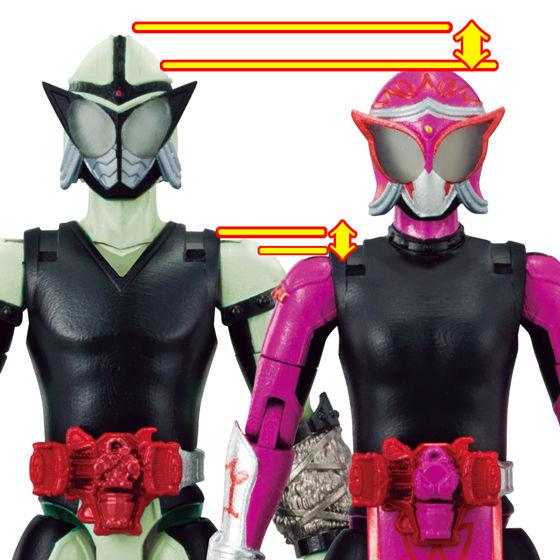 仮面ライダーマリカは、通常よりワンサイズ小さい素体を、新規造形で再現!