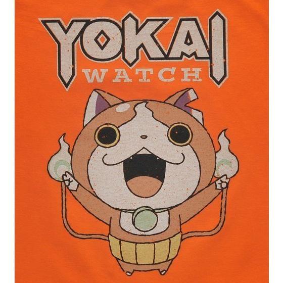 妖怪ウォッチ 親子Tシャツ KIDSサイズ ジバニャン オレンジ