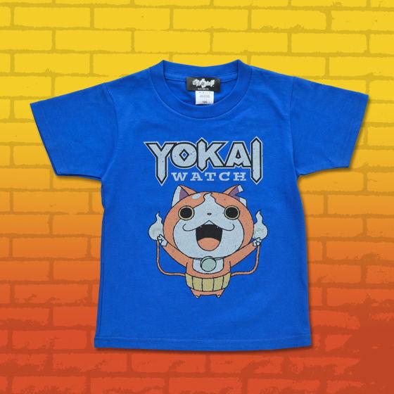 妖怪ウォッチ 親子Tシャツ KIDSサイズ ジバニャン ロイヤルブルー