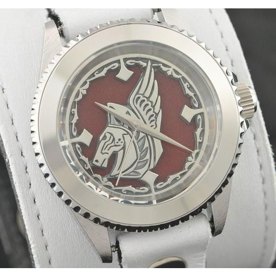 聖闘士星矢 LEGEND of SANCTUARY x red monkey designs Collaboration Wristwatch WHITE Ver.