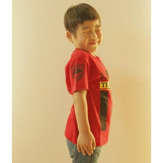 劇場版 仮面ライダー鎧武 サッカーユニフォーム風Tシャツ 子ども用 チームバロン