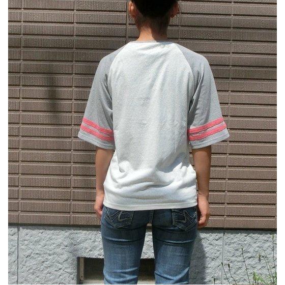 烈車戦隊トッキュウジャー トッキュウ1号 ライト ラグランTシャツ 袖杢グレー