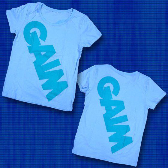 仮面ライダー鎧武 TEAM GAIM(チーム鎧武) Tシャツ ロゴ柄 レディース ライトブルー