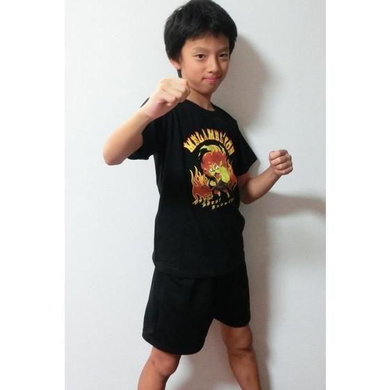 妖怪ウォッチ 親子Tシャツ KIDSサイズ メラメライオン (ブラック)