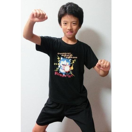 妖怪ウォッチ 親子Tシャツ KIDSサイズ ロボニャン (ブラック)