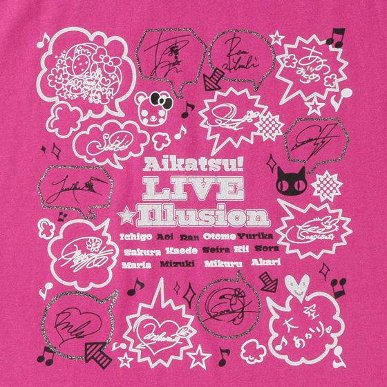 アイカツ!LIVE☆イリュージョングッズ Tシャツサイン柄レディース