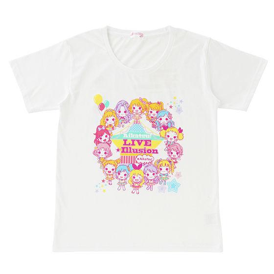アイカツ!LIVE☆イリュージョングッズ Tシャツ SD柄 キッズ