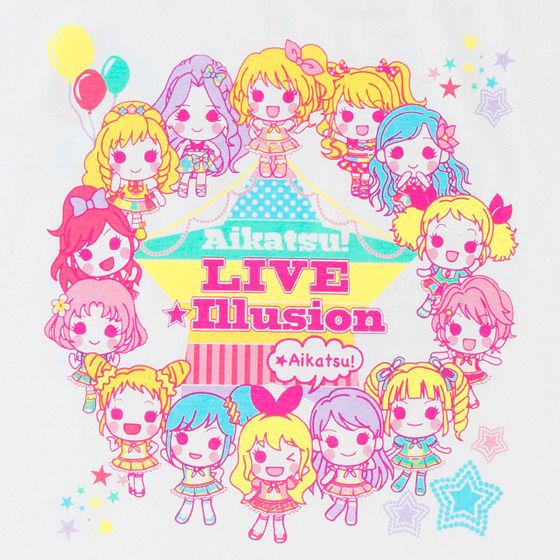 アイカツ!LIVE☆イリュージョングッズ Tシャツ SD柄 レディース