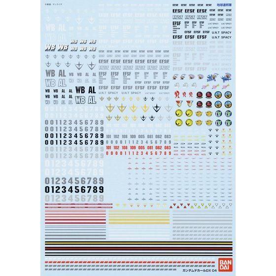 ガンダムデカールDX 04 【一年戦争/地球連邦系】【1/100スケール推奨】【再販】