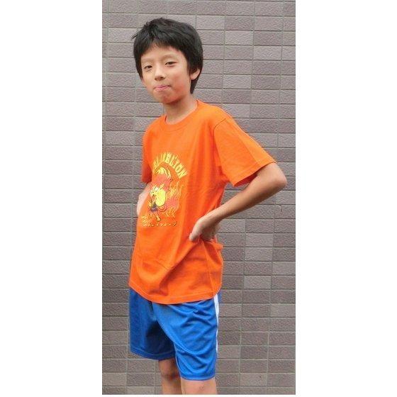 妖怪ウォッチ親子Tシャツ KIDSサイズ メラメライオン (カラー)