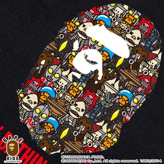 【A BATHING APE×ウルトラマンシリーズコラボ】 ULTRA MONSTERS BY BATHING APE TEE KIDS