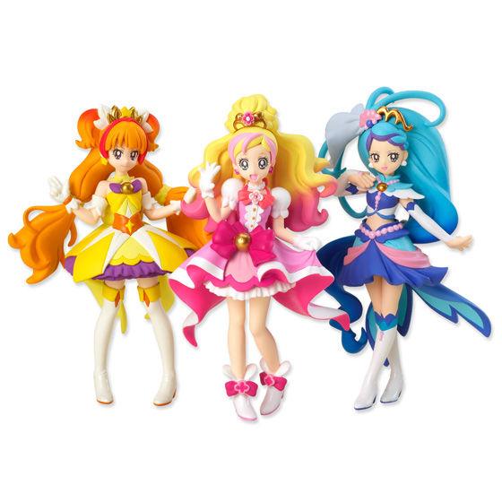 Go!プリンセスプリキュア キューティーフィギュア 全3種・3個セット