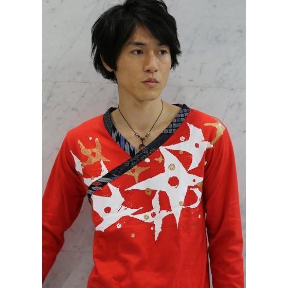 手裏剣戦隊ニンニンジャー×C&Y SUN & C&LE MOON アカニンジャー 伊賀崎天晴 長袖Tシャツ 赤×黒