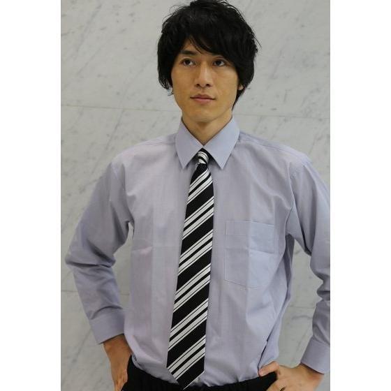 仮面ライダードライブ ネクタイ ストライプ ブラック(大剣幅8cm)